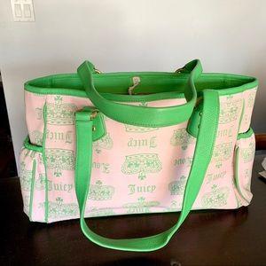 SUPER RARE 💗💚 Juicy Couture Baby Bag Tote